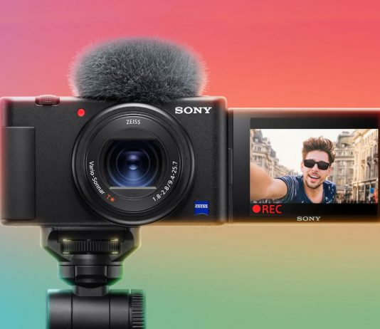 A photo of the Sony ZV-1 vlogging camera