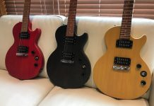 The three finishes of the Les Paul Special