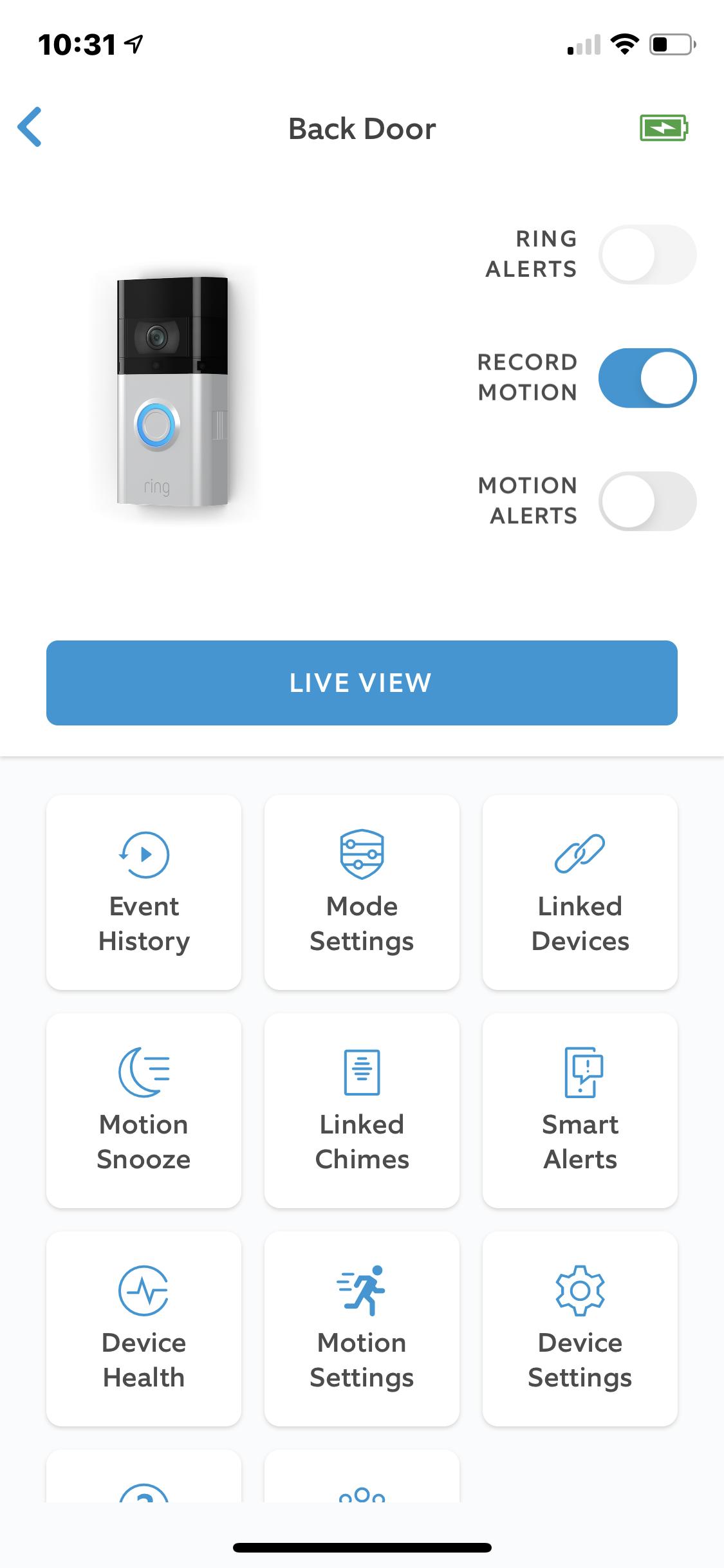 Ring Video Doorbell 3 Plus app