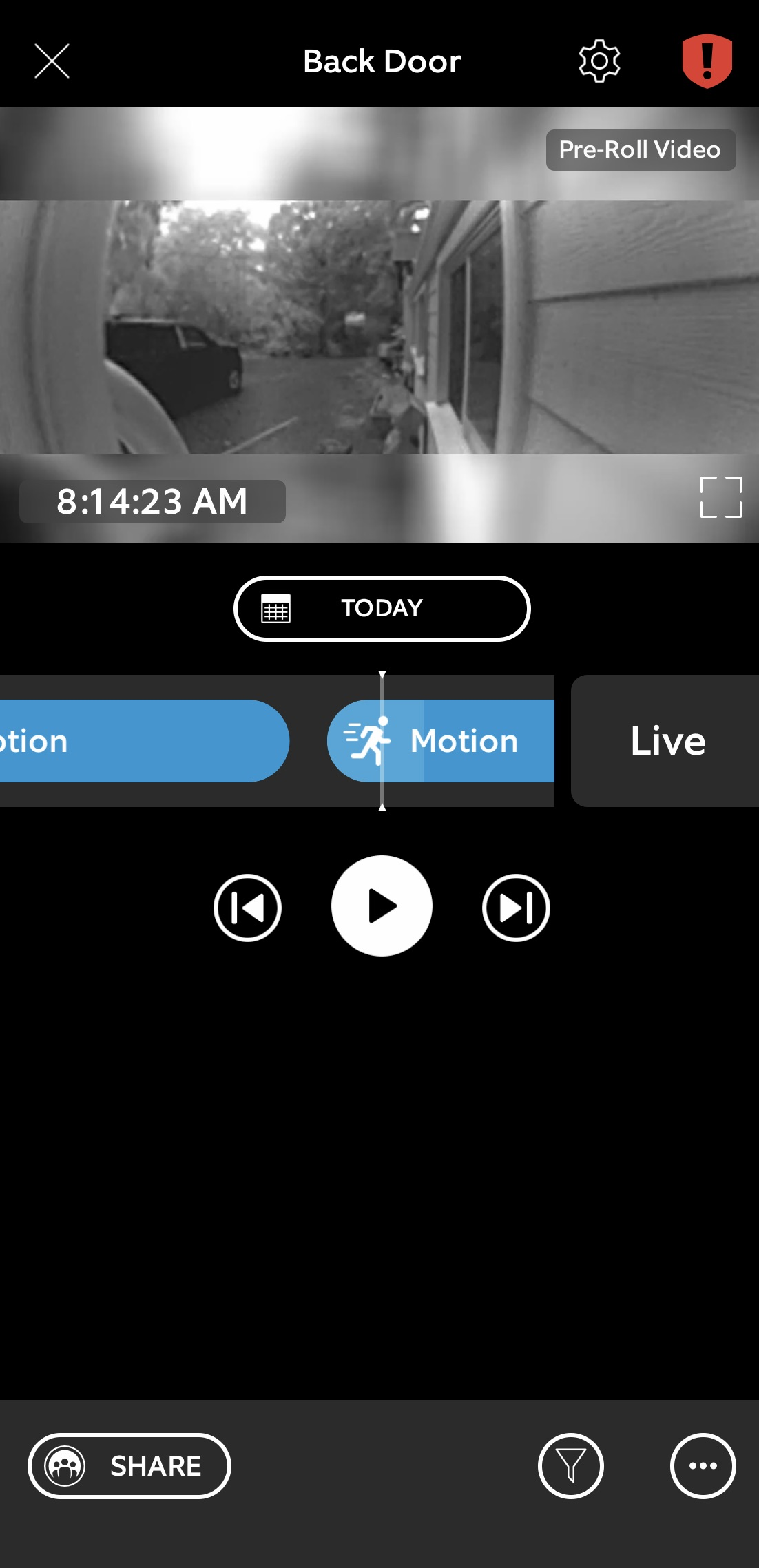 Pre-roll Ring Video Doorbell 3 Plus app