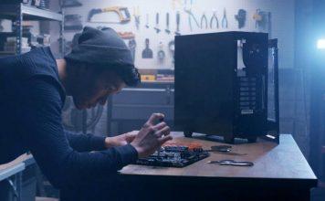 man building gaming PC