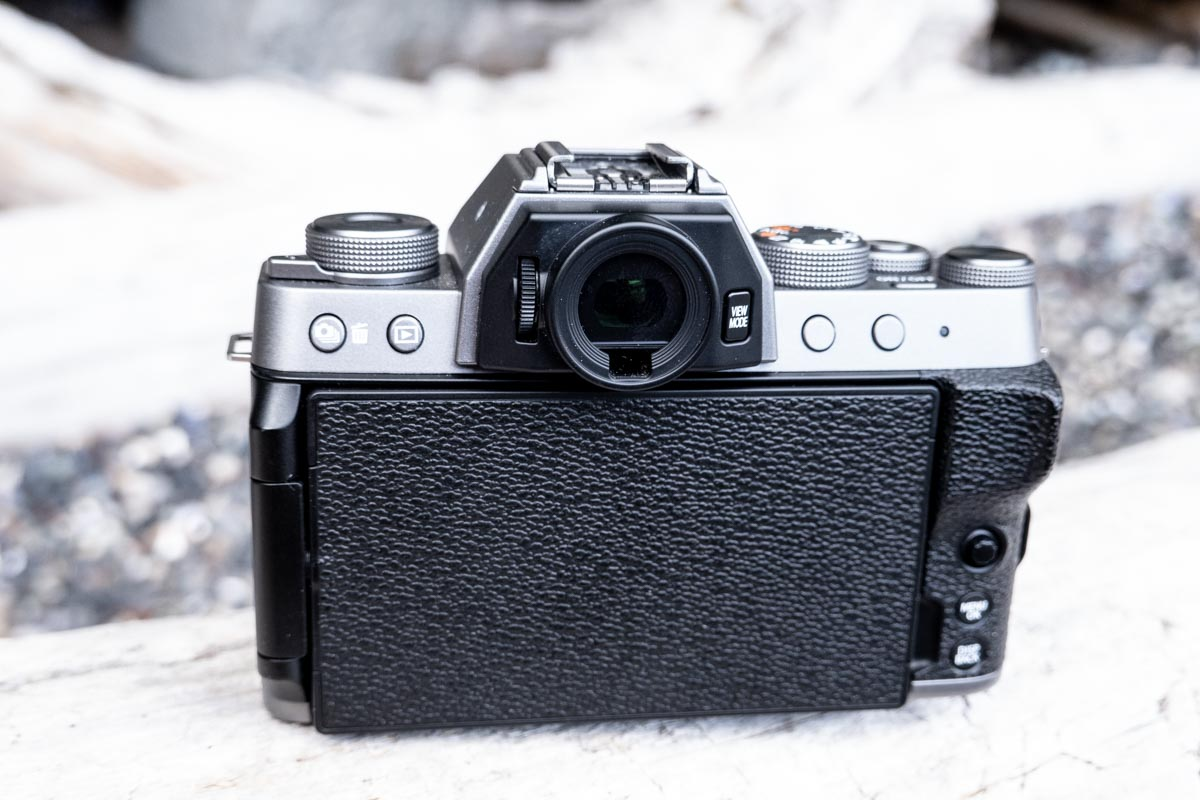A photo of back of the Fujifilm X-T200