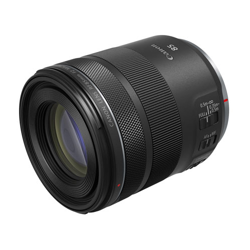 A photo of the Canon RF 85mm f2 Macro IS STM lens