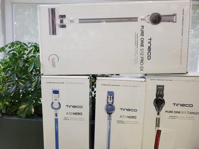 Image of 4 tineco stick vacuums