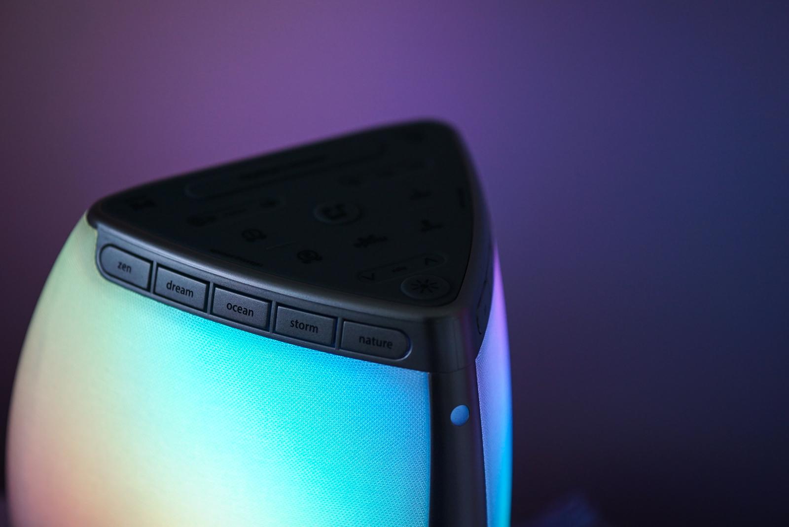 iHome Zenergy Bedside Sleep Therapy light settings