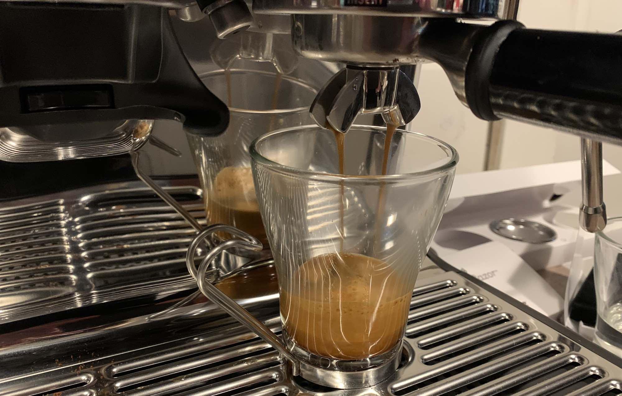 Breville Barista Pro espresso shot