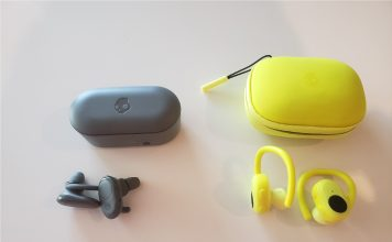 image of the Skullcandy Push and Push Ultra earbuds next to their charging cases