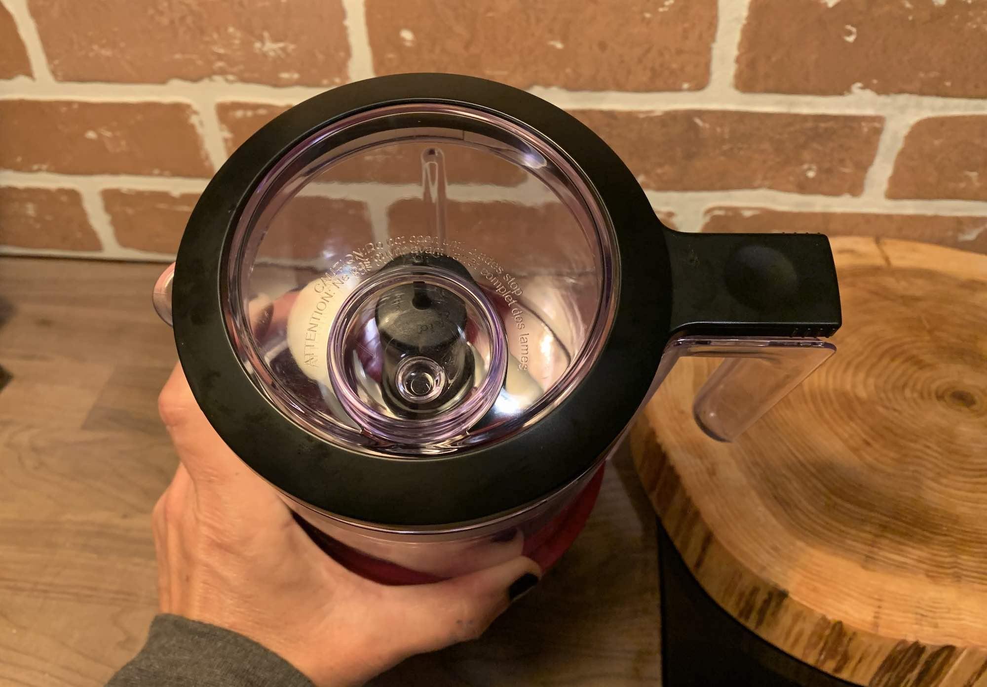 KitchenAid Cordless Chopper Drizzle Bowl on lid