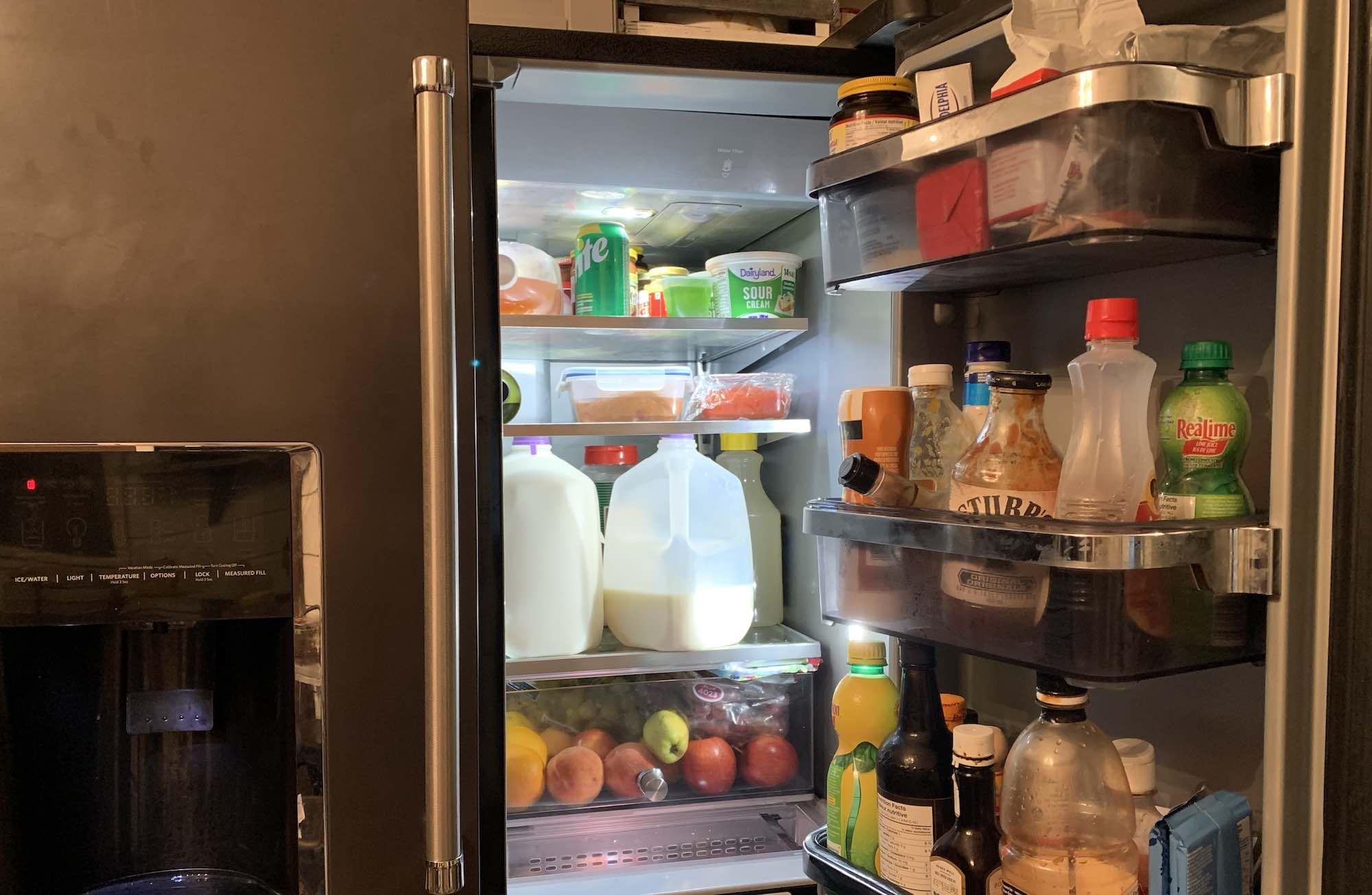 KitchenAid fridge side bins