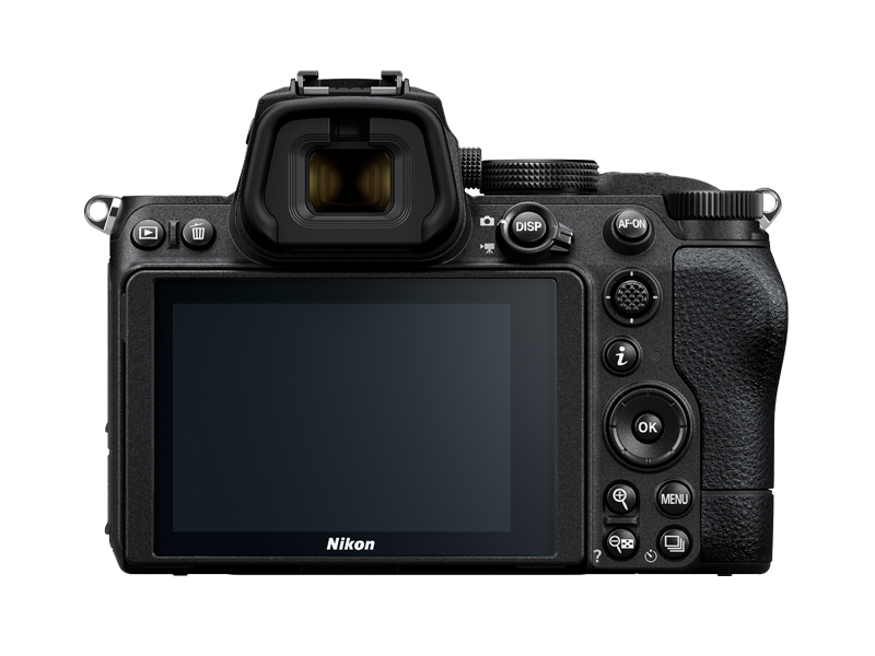 A photo of the back of the Nikon Z 5