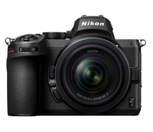 A photo of the front of the new Nikon Z 5