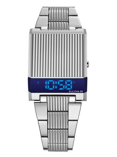 Bulova Archive LED Computron 31mm Digital Fashion Watch