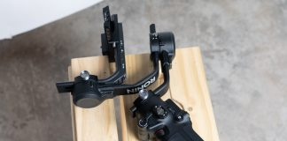 A photo of the DJI RSC2 camera stabilizer