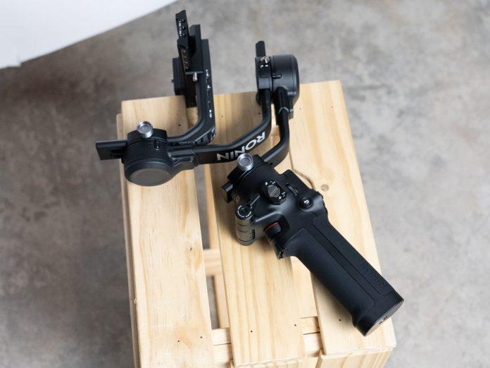 A photo of the DJI RSC2 camera stabilizer