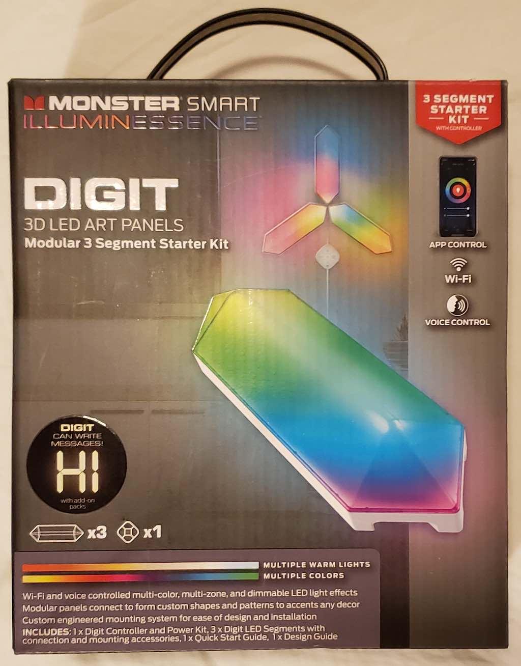 Monster Smart IlluminEssence DIGIT 3-D LED Art Panels Starter Kit