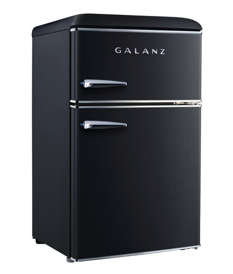 Galanz 3.1 Cu. Ft. Freestanding Top Freezer Retro Bar Fridge