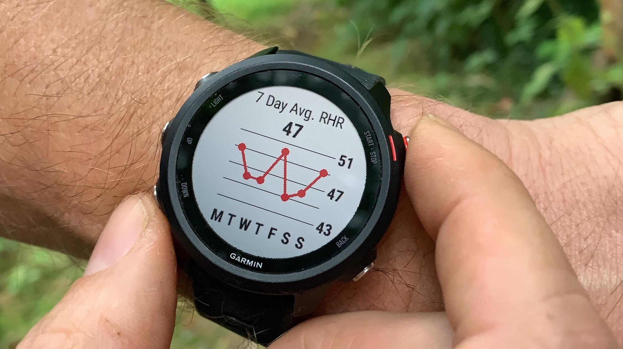 Heart rate garmin forerunner 245 music