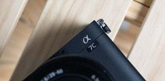 A photo of the Sony A7C full-frame mirrorless camera