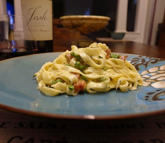 Homemade Pasta and Cream Sauce