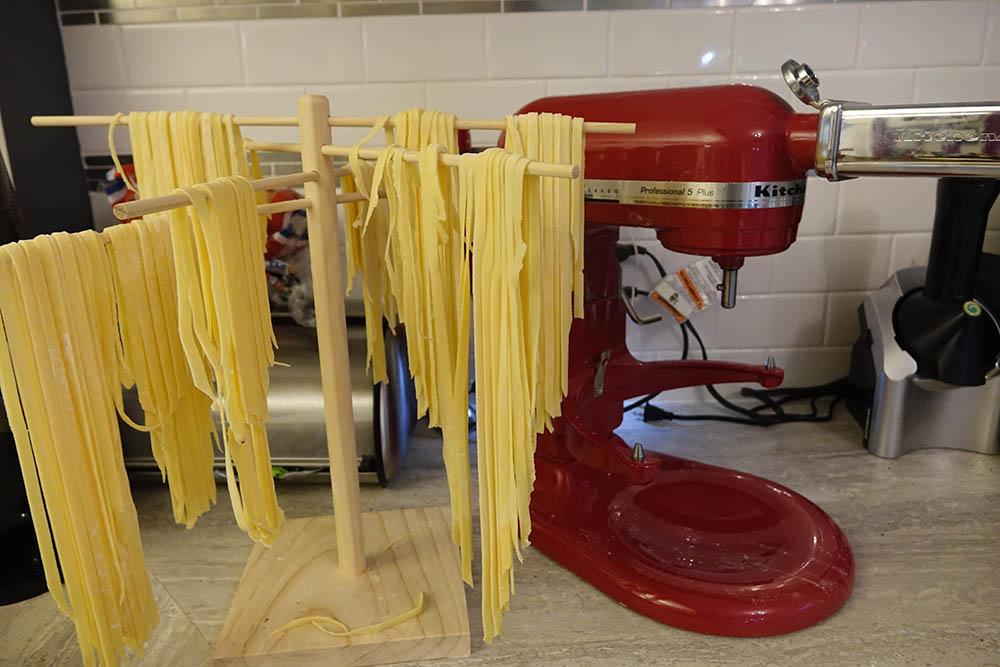 Homemade Pasta Drying