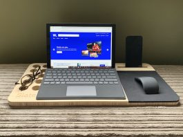 working from home with a Microsoft Surface Pro