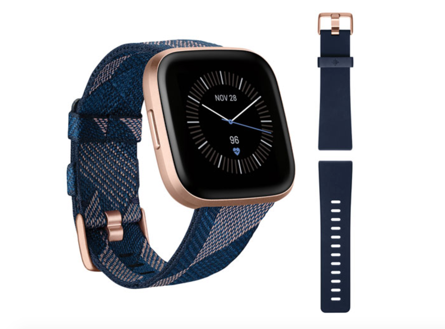 image of the Fitbit Versa 2 Special Edition smartwatch with additional wrist strap