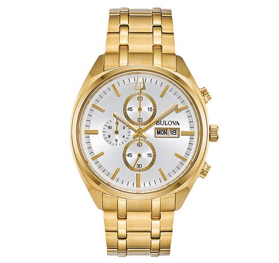 Bulova Classic 35mm Women's Chronograph Fashion Watch - Gold:White