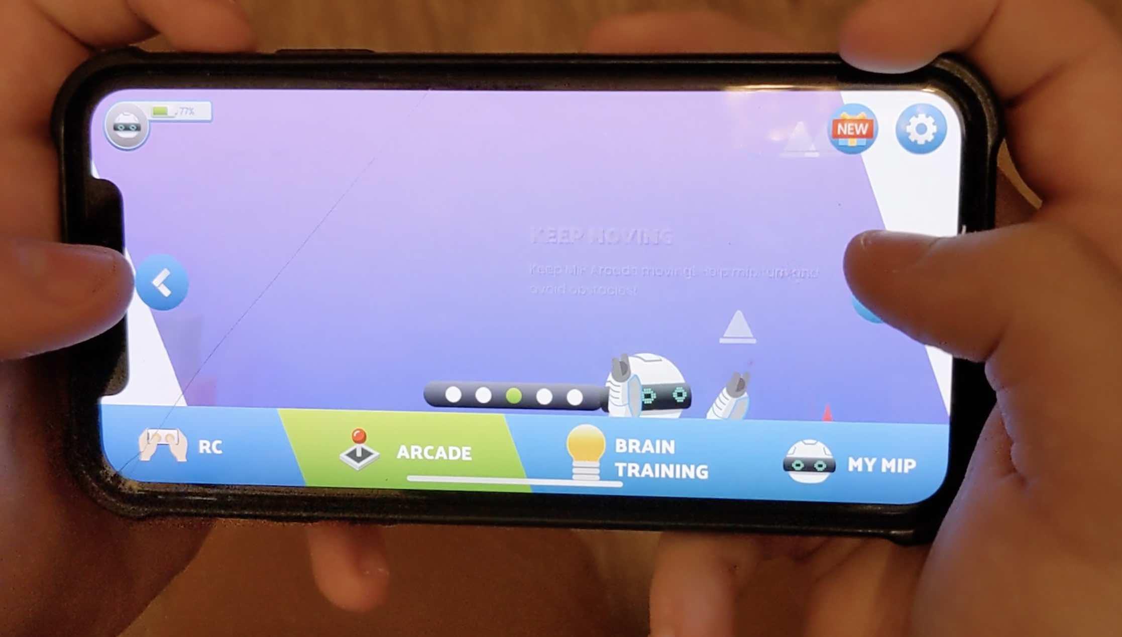 WowWee MiP Arcade app