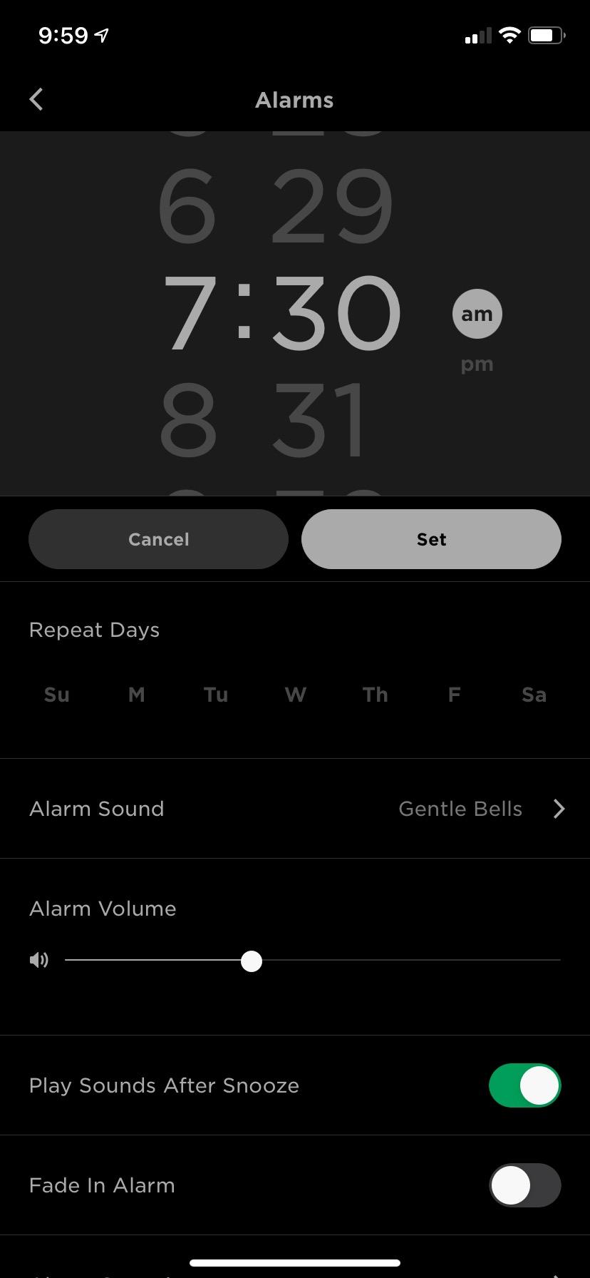 Bose Sleepbuds alarm