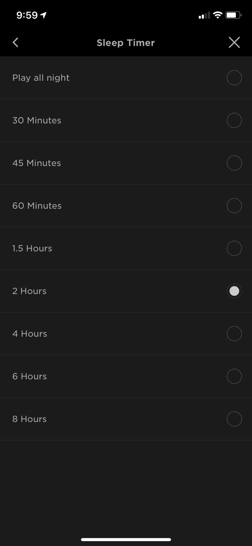 Bose Sleepbuds II timer