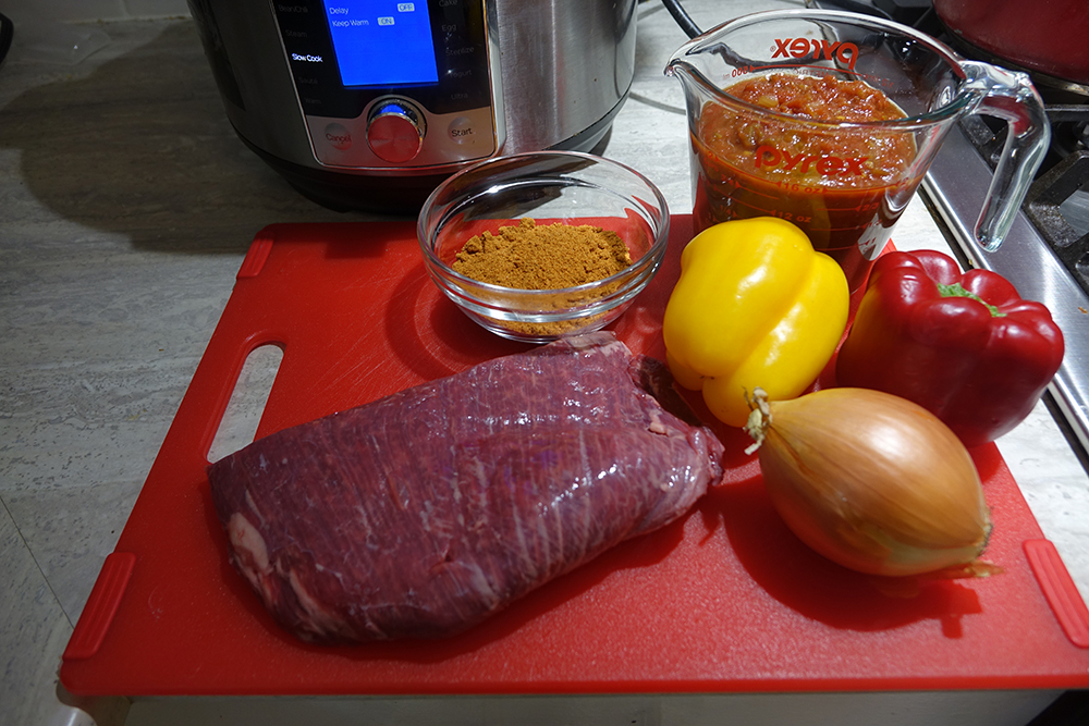 Instant Pot flank steak tacos ingredients