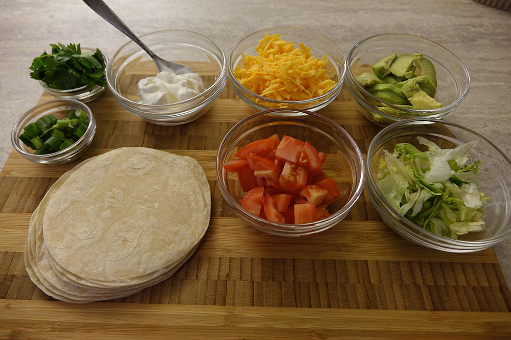 Flank steak tacos toppings