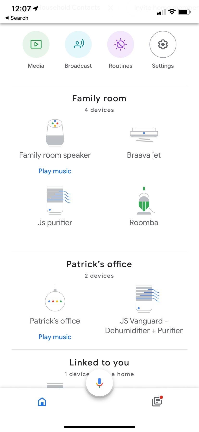 JS Flo Vanguard 2.0 Google Home app