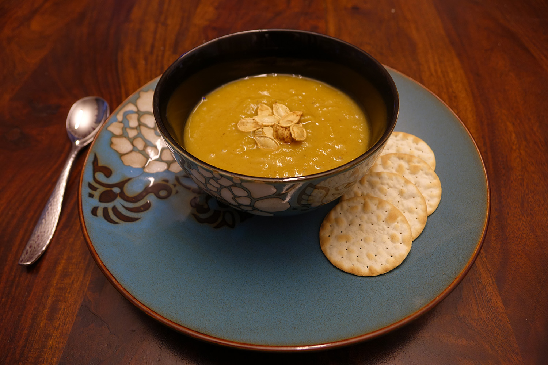 Pumpkin Soup Recipe final dish