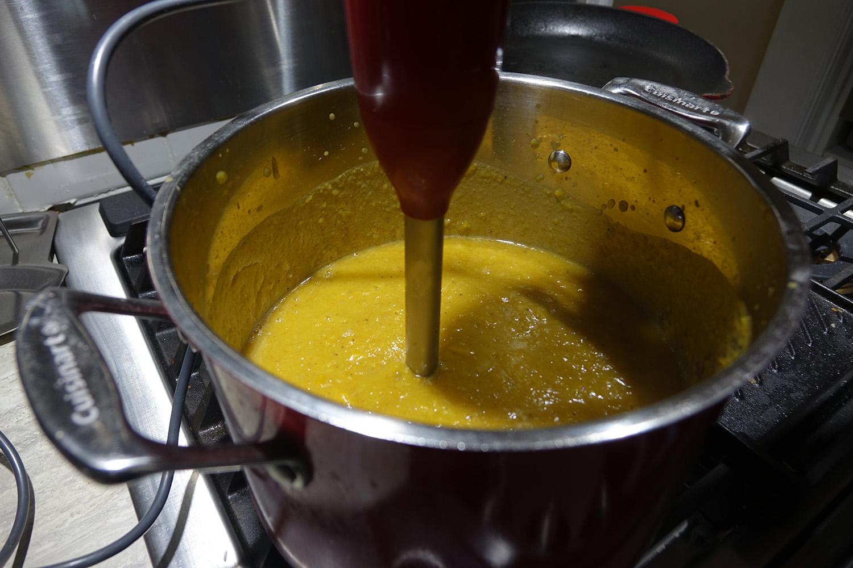 Pumpkin Soup immersion blender