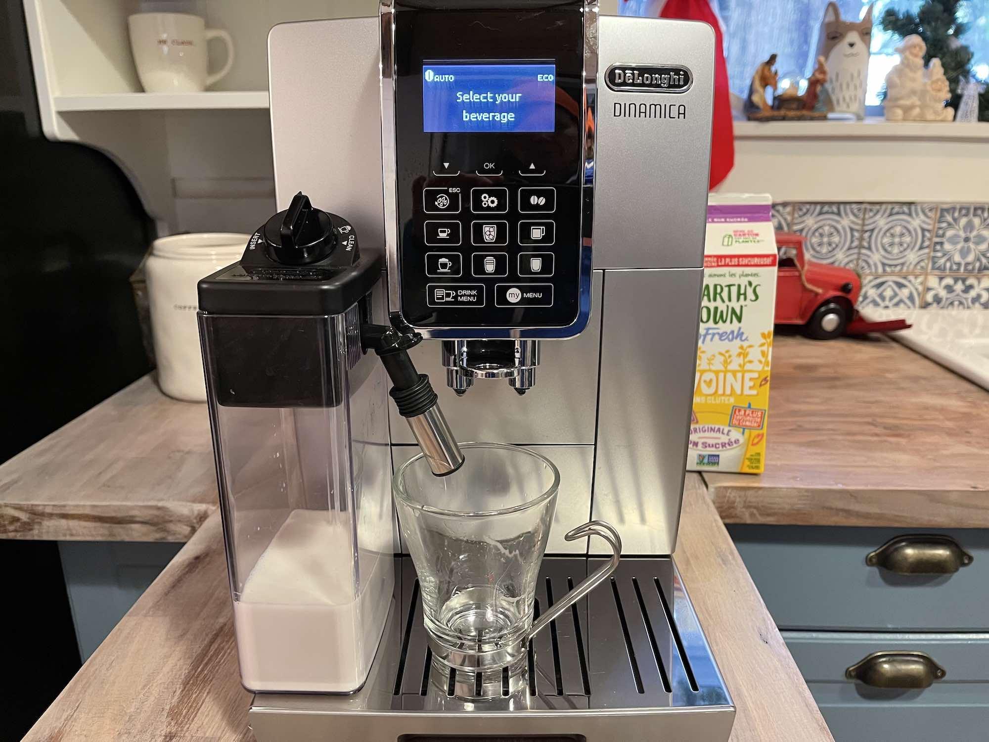 De'Longhi Automatic Espresso Machine Oat Milk