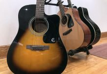FT-100CE Dreadnought acoustic guitar