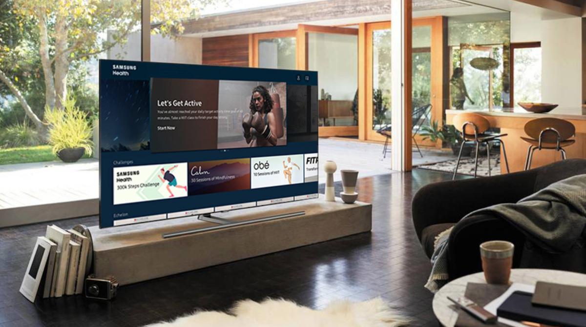 samsung health app, tv