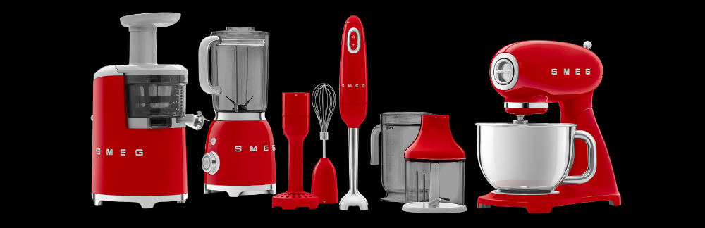 red smeg appliances