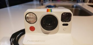 image of the Polaroid Now camera