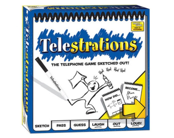 image of the Telestrations board game box