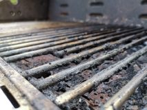 Barbecue grille close up