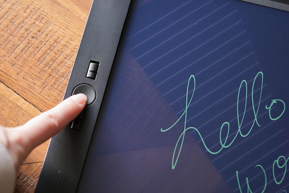 Blackboard by Boogie Board erase button