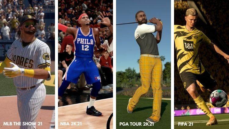 Major league sports games