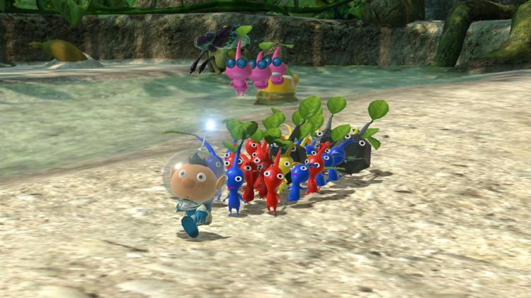 Pikmin 3 gameplay