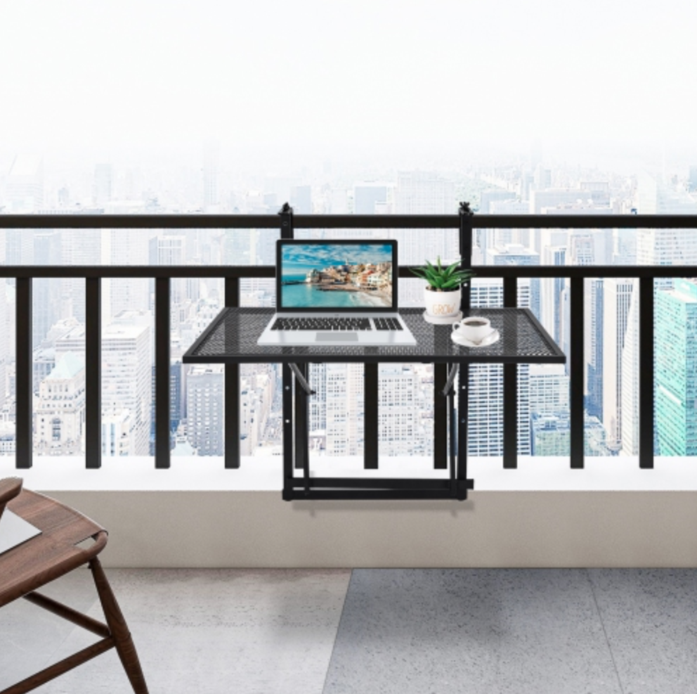 adjustable handing balcony table