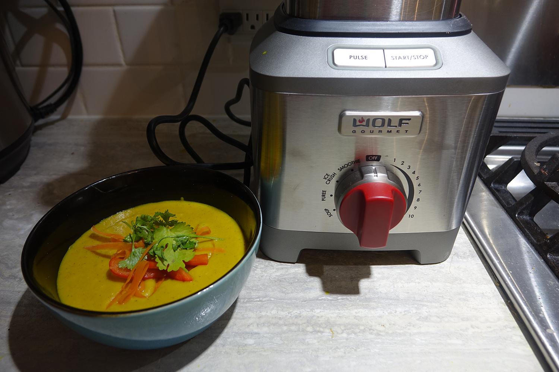Wolf Gourmet blender curry soup