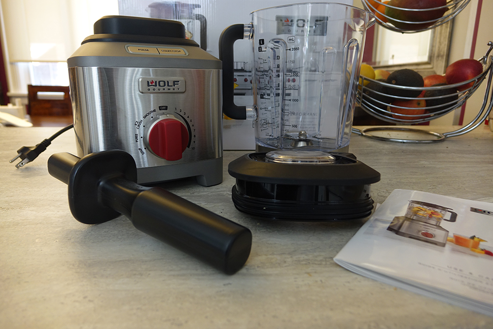 Wolf Gourmet Pro Performance blender in the box