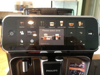 Philips 5400 control panel