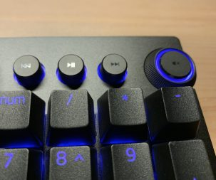 Razer keyboard media controls